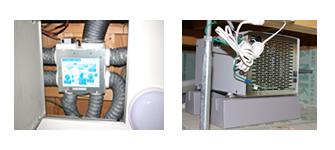 集中換気システムと床下除湿機